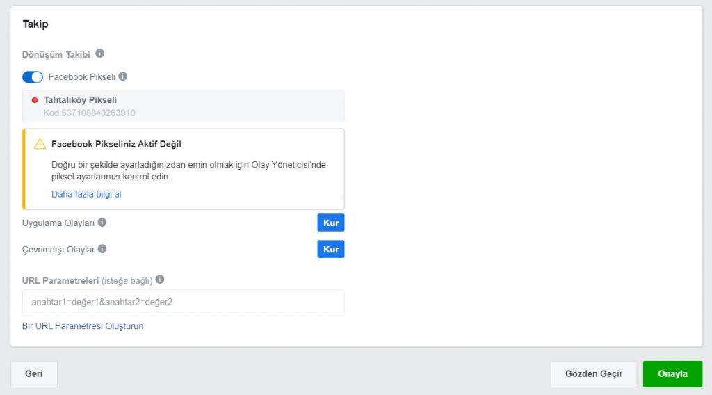 Facebook Dönüşüm Takibi