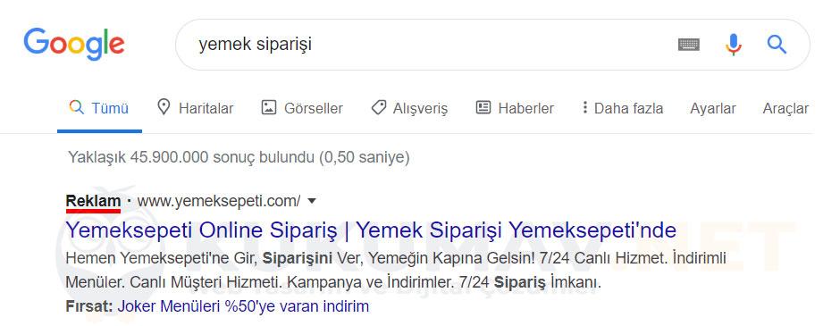 Google Arama Ağı Kampanyası