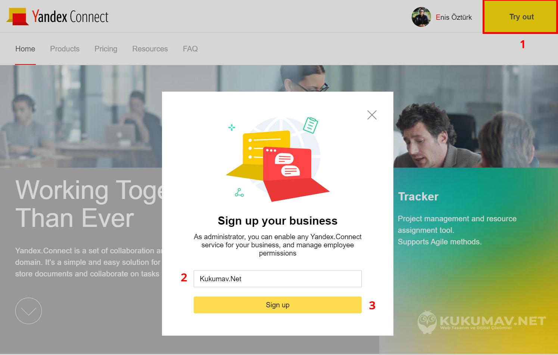 Yandex Connel Kurumsal Mail Hesabı