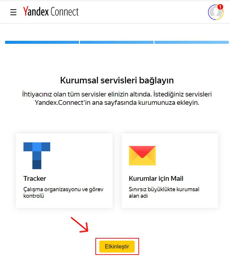 Yandex Mail Alanadı Etkinleştirme