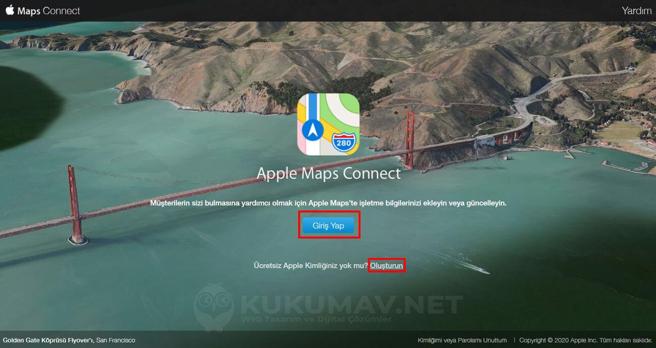 Apple Harita ekleme