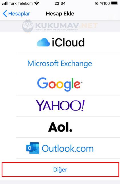 Iphone Şirket Maili Kurma