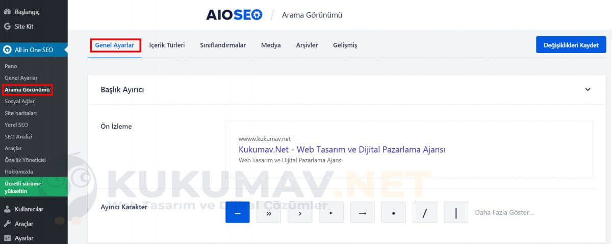 All in one seo genel