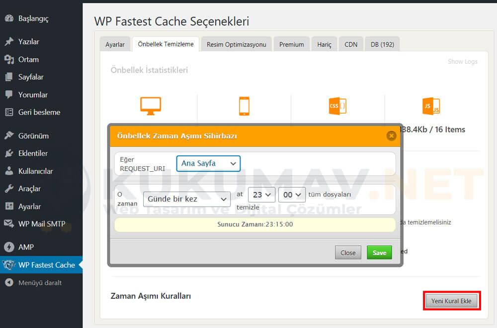 WP Fastest Cache Zaman Aşımı