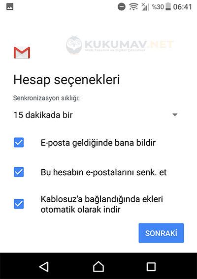 Samsung Şirket Maili Kurma